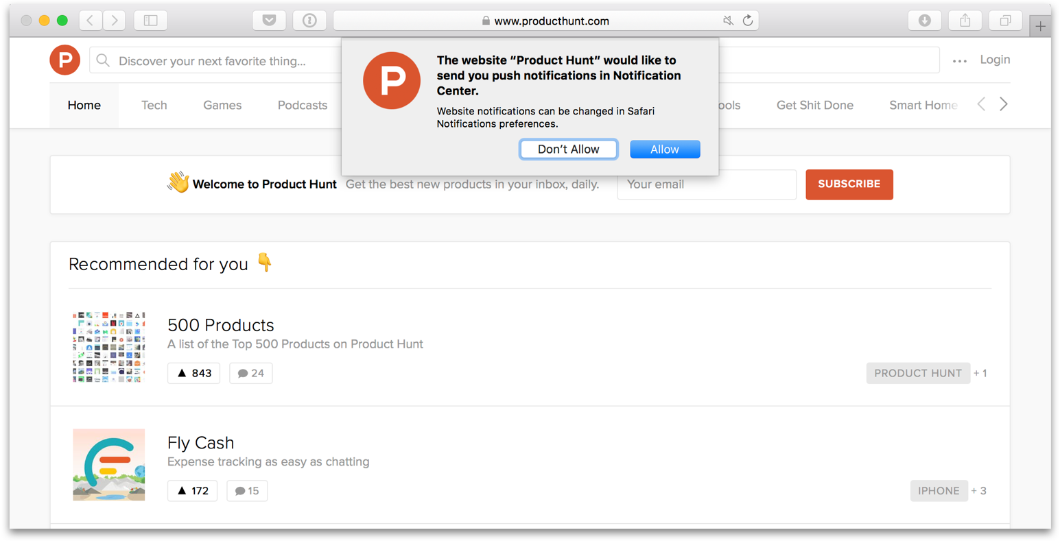 Screenshot producthunt