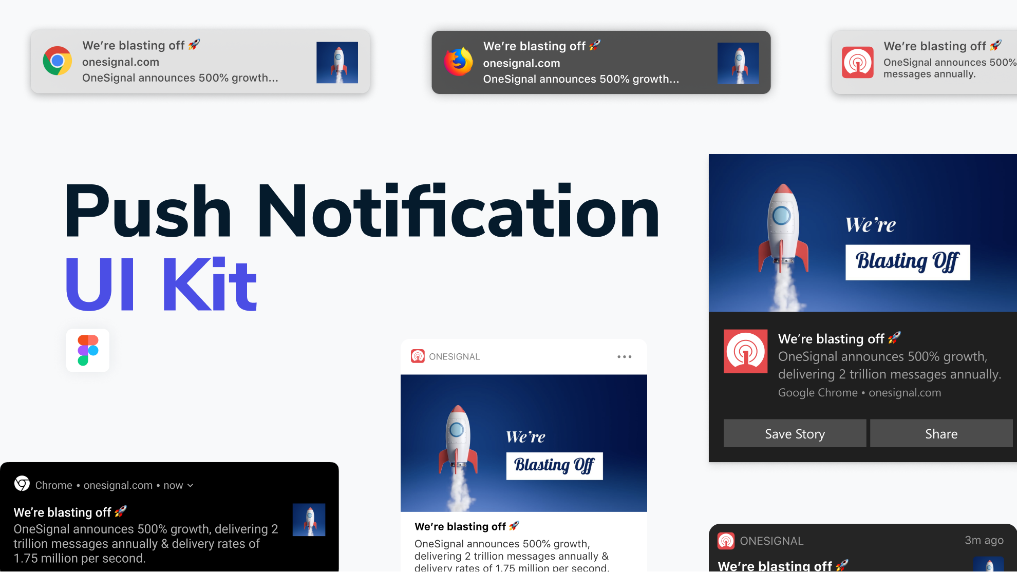 Push notification UI kit for Figma